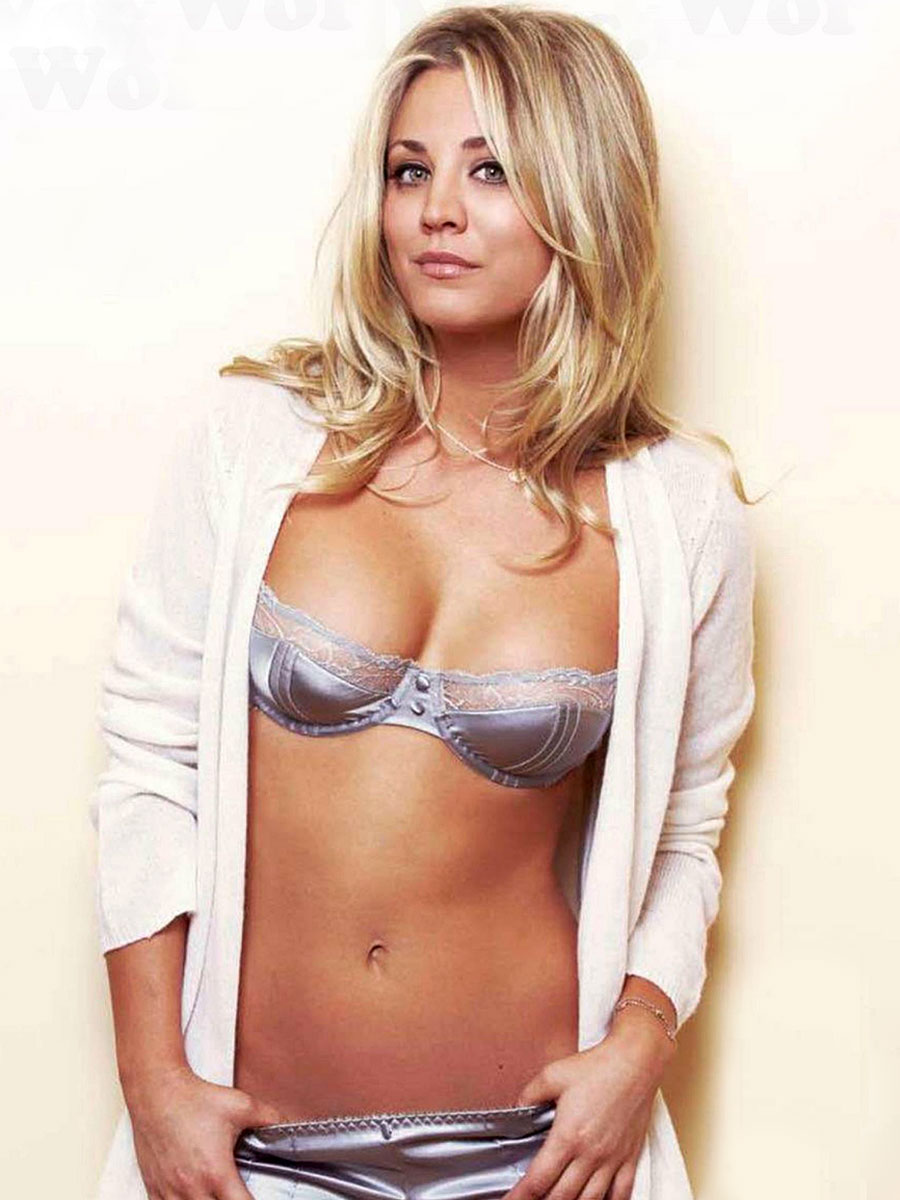 kaley cuoco breast size | her bra size